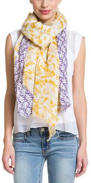Saachi Yellow Purple Linen Wrap