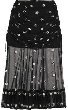 Alice McCall Le Lady Embroidered Tulle Skirt - Black