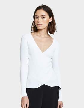 Which We Want V-neck Wrap Top in White