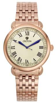 Croton Men's Heritage Rosetone Stainless Bracelet Watch with Ivory Dial