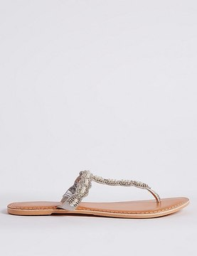 Marks and Spencer Beaded Toe Sandals