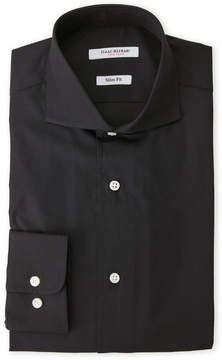 Isaac Mizrahi Black Slim Fit Broadcloth Dress Shirt