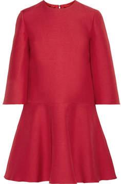 Valentino Wool And Silk-blend Mini Dress - Red