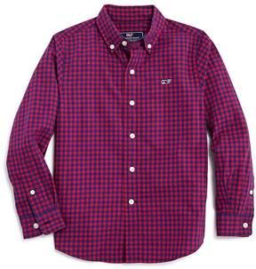 Vineyard Vines Boys' Gingham Whale Shirt - Big Kid