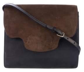 Valextra x Holmes and Yang Leather & Suede Shoulder Bag