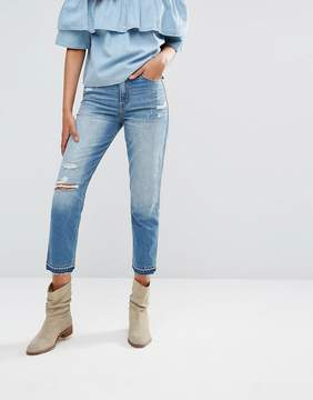 Abercrombie & Fitch Cropped Girlfriend Jeans