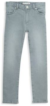 Bonpoint Little Girl's & Girl's Washed Buttoned Jeans