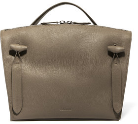 Jil Sander Hill Textured-Leather Tote