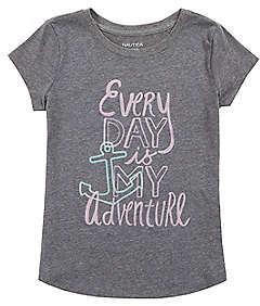 Nautica Toddler Girls' Everyday Adventure Tee (2T-3T)