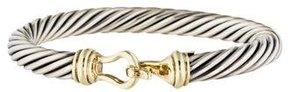 David Yurman Two-Tone Cable Buckle Bracelet