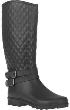 Couture FOREVER YOUNG Forever Young Women's Quilted Double Buckle Tall Rain Boot