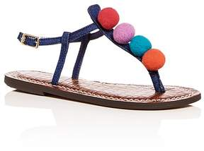 Sam Edelman Girls' Gigi Gabe Denim Thong Sandals - Toddler, Little Kid, Big Kid