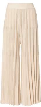 Derek Lam 10 Crosby Beige Cropped Pleated Pants