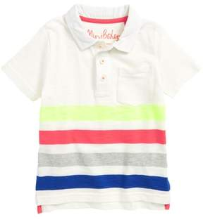 Boden Mini Rainbow Jersey Polo