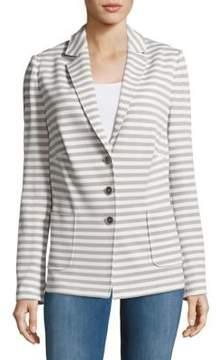 Basler Striped Notch-Lapel Jacket