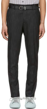 Lanvin Black and White Bicolor Chino Trousers
