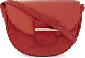 Claudie Pierlot Asphalte suede and leather cross-body bag