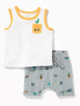 Old Navy Pineapple-Graphic Tank & Printed Shorts Set for Baby