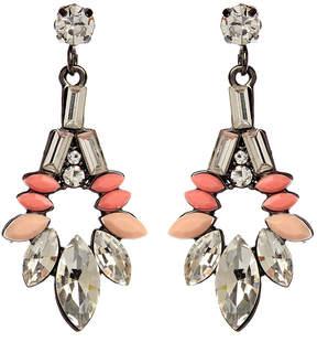 Amrita Singh Austrian Crystal & Pink Goa Evening Drop Earrings