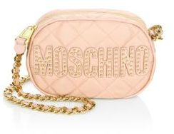 Moschino Quilted Leather Crossbody Bag