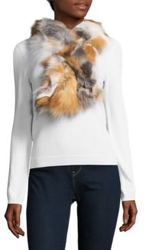 Saks Fifth Avenue Multicolored Fox Fur Scarf