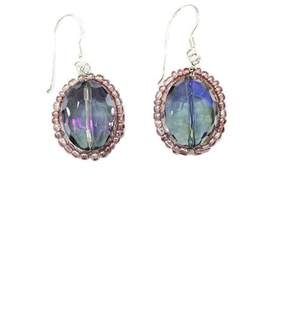 Ananda Beaded Crystal Earrings