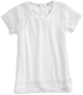 GUESS Lace Sleeve Top (2-6x)