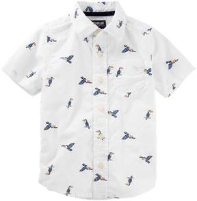 Osh Kosh Oshkosh Bgosh Toddler Boy Birds Button Down Shirt