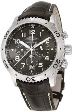 Breguet Transatlantique Type XXI Flyback Automatic Ruthenium Dial Black Leather Men's Watch 3810ST929ZU
