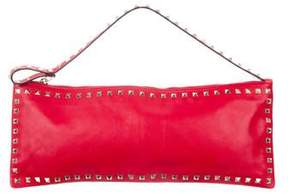 Valentino Large Rockstud Leather Clutch