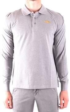 Aeronautica Militare Men's Grey Cotton Polo Shirt.