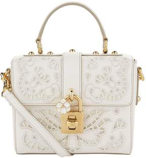 Dolce & Gabbana Lace Padlock Nappa Leather Top Handle Bag - MULTI - STYLE