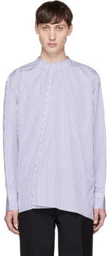Marni Blue and White Striped Shirt