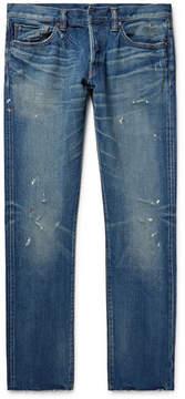 Simon Miller M001 Slim-Fit Distressed Denim Jeans