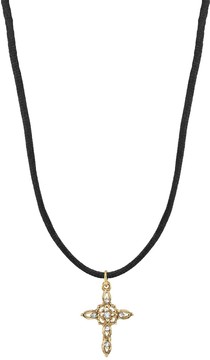 1928 14k Gold-Plated Crystal Pendant Necklace