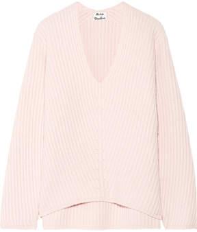 Acne Studios Deborah Ribbed Wool Sweater - Pastel pink