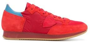 Philippe Model Men's Red Leather Sneakers.