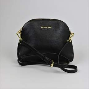 Michael Kors Black Pebble Leather Mercer Dome Messenger Bag Purse - BLACKS - STYLE
