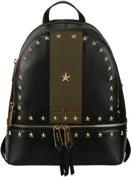 Michael Kors Studded Rhea Backpack - BLACK/OLIVE - STYLE