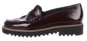 Paul Green Patent Leather Round-Toe Loafers