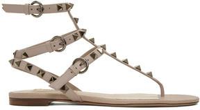Valentino Pink Garavani Rockstud Thong Sandals
