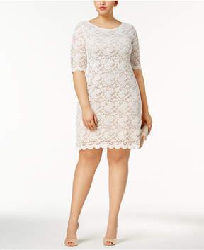 Connected Plus Size Lace Dress