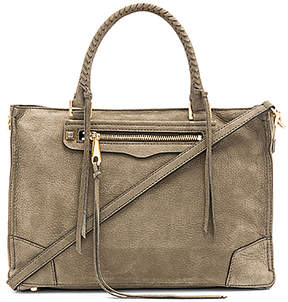 Rebecca Minkoff Regan Satchel in Olive.