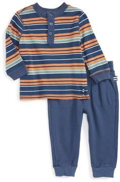 Splendid Infant Boy's Stripe Henley T-Shirt & Pants Set