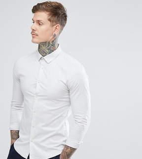 Jack Wills Hinton Skinny Poplin Stretch Fit Shirt in Gray