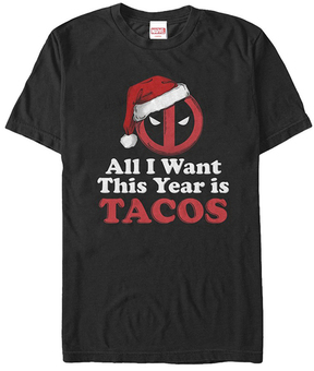 Fifth Sun Deadpool Black 'Tacos' Tee - Men's Regular