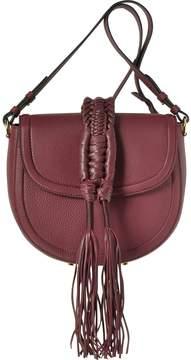 Altuzarra Ghianda Knot Garnet Red Leather Saddle Bag