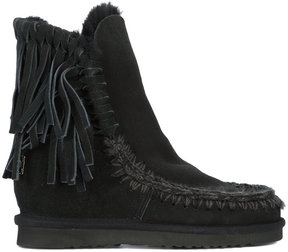 Mou fringed fitted boots