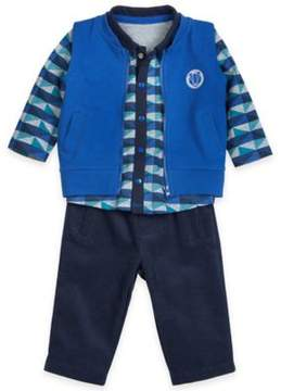 Petit Lem Petit LemTM Passage to Alaska 3-Piece Vest, Shirt, and Pant Set in Blue