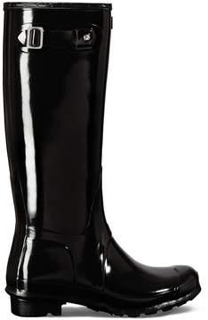 Hunter Women's Original Tall Gloss Buckle Strap Rain Boots